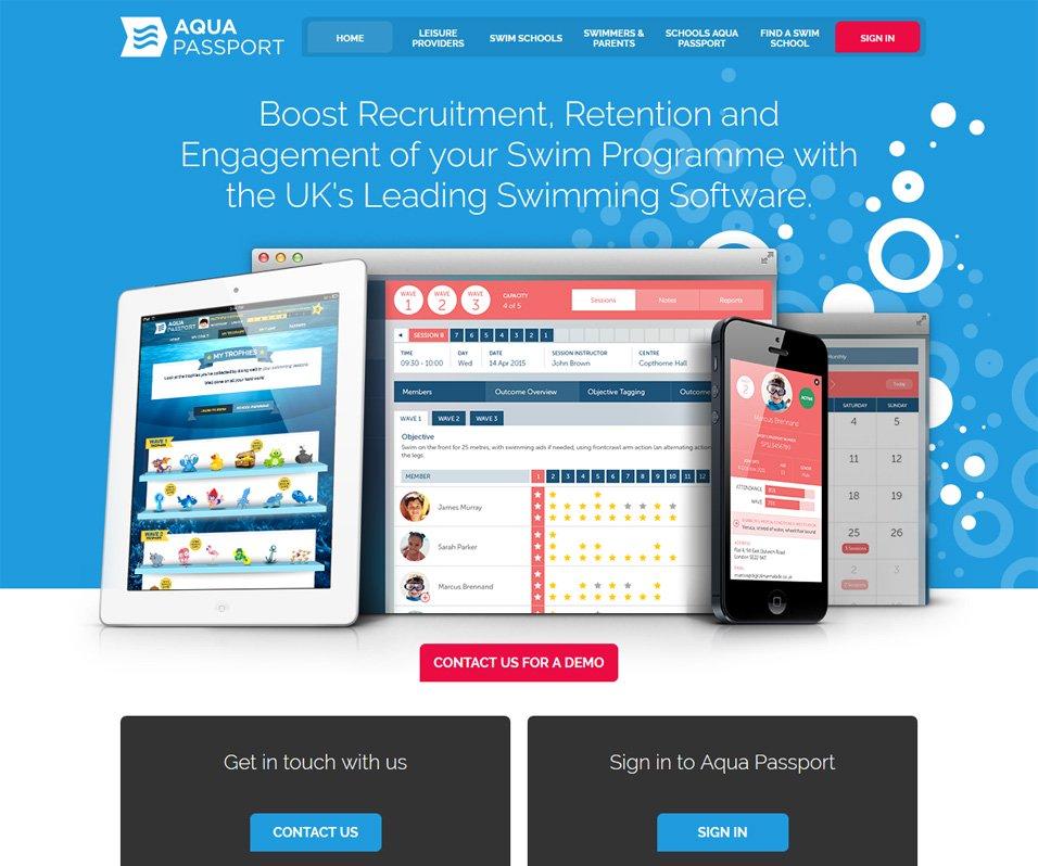 Screenshot of Sport Passport Sales Website Homepage